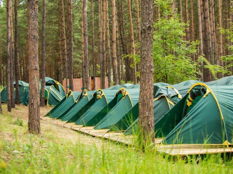 детский палаточный лагерь под Киевом