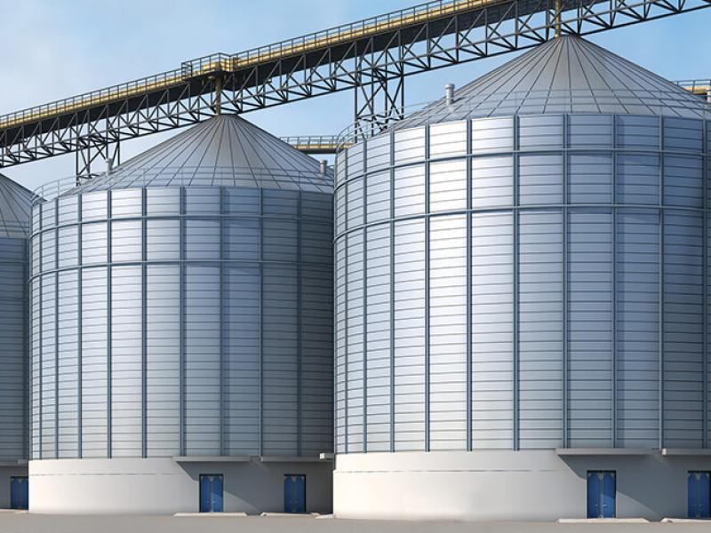 Силосная установка для хранения зерна